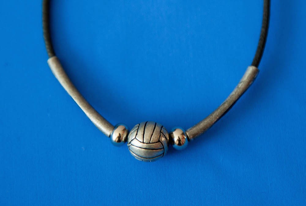 Leather Volleyball Necklace
