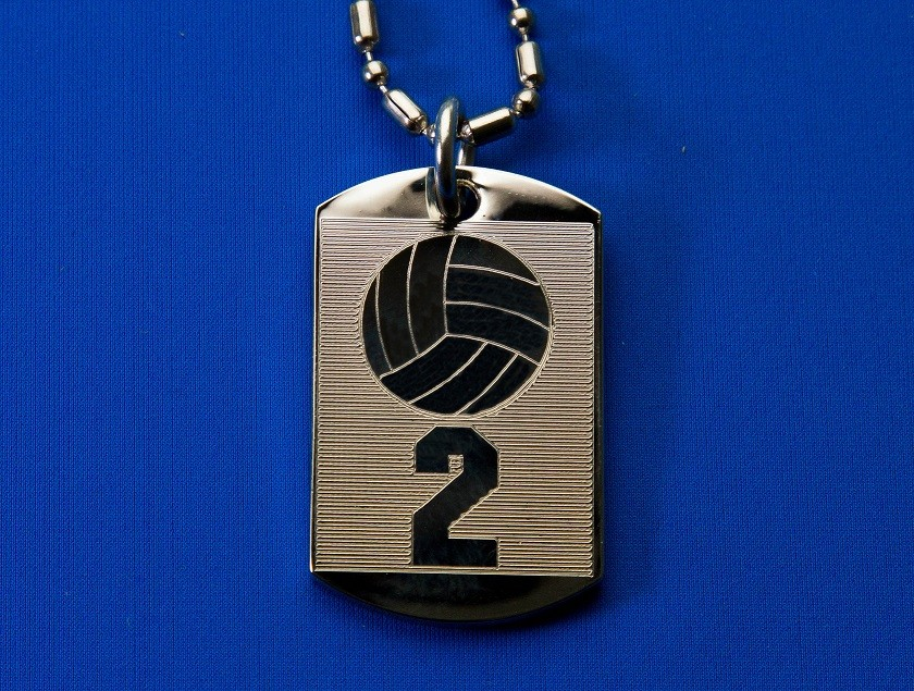 Team Number Dog Tag Necklace