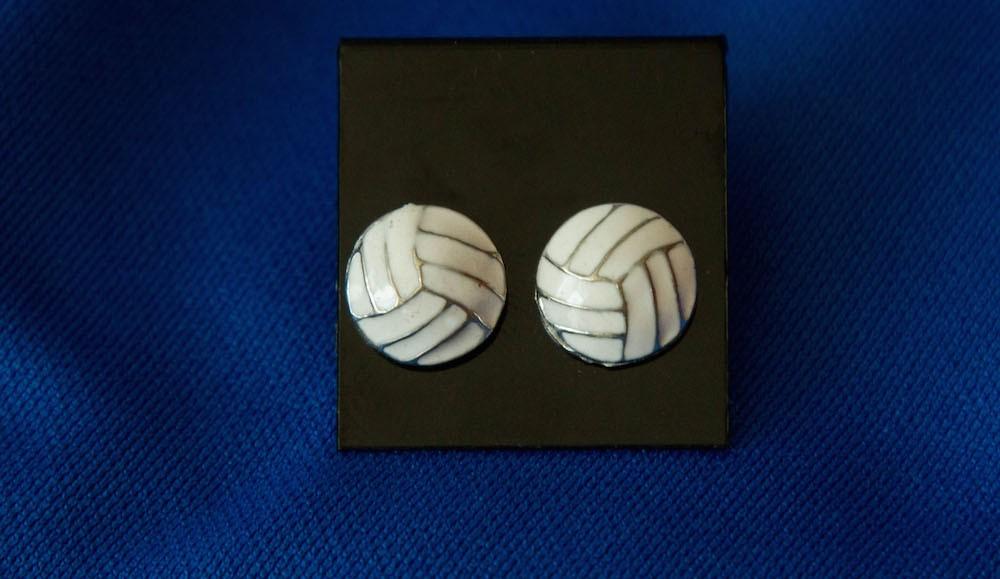 Ennamel volleyball earrings