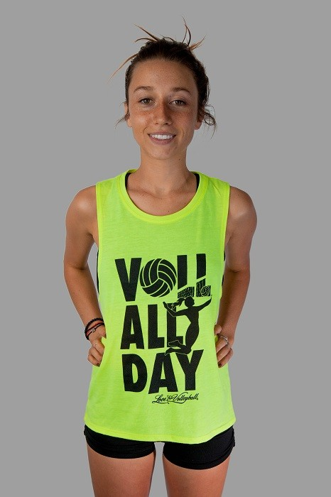Yellow Voll All Day Flowy Tank