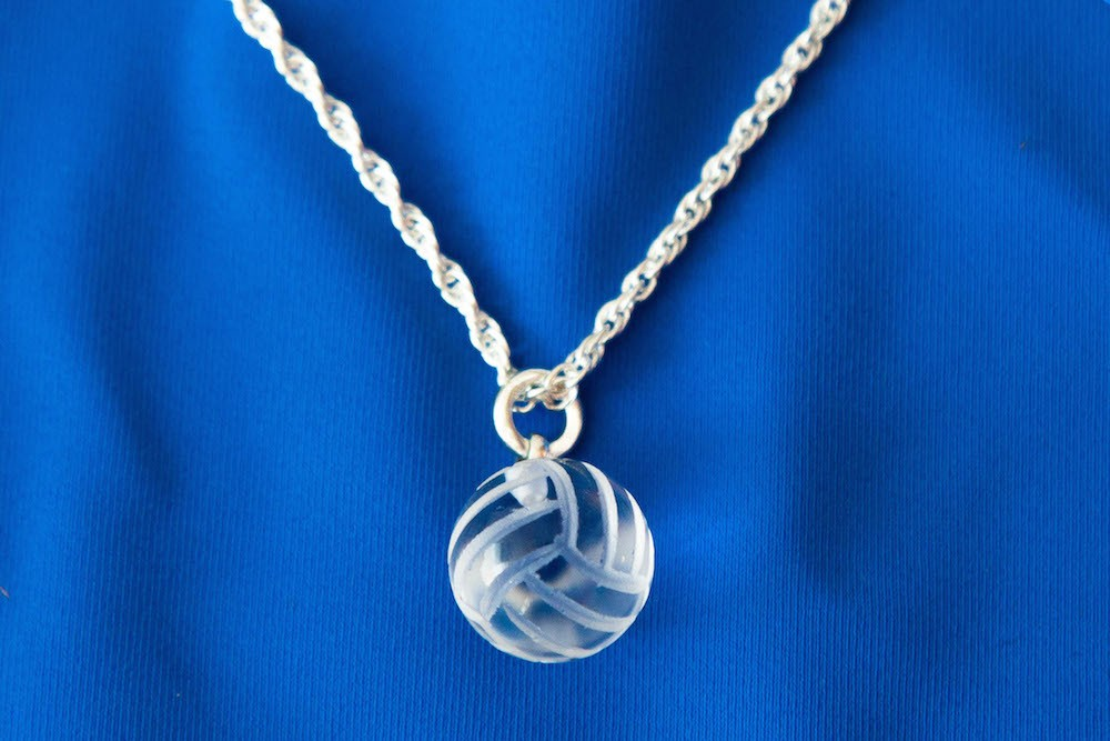Crystal Volleyball Necklace