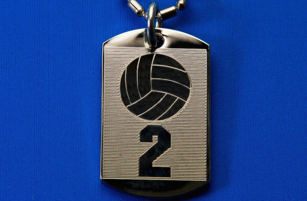 Engraved Team Number Pendent
