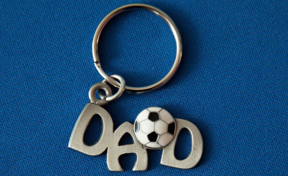 Pewter Dad Keychain