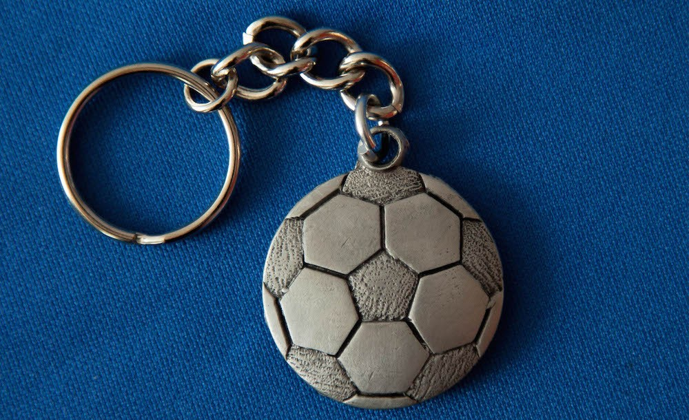 Pewter Soccer Ball Keychain