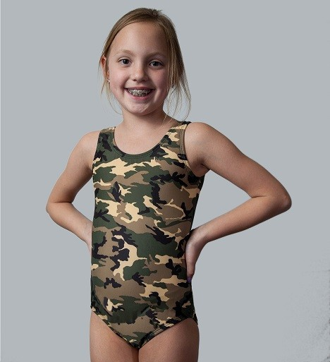 Green Camo Tank Leotard