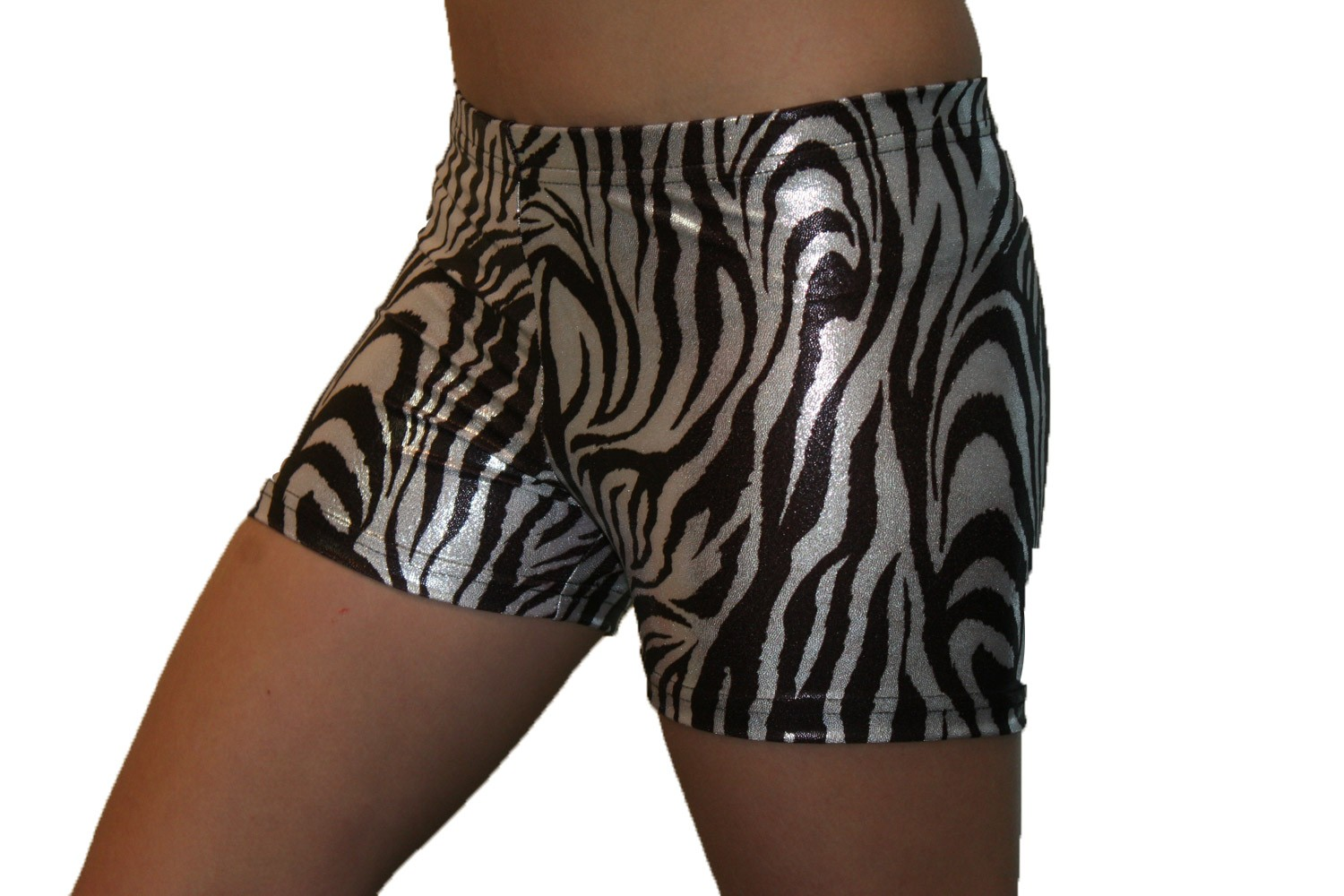 Black & White Metallic Zebra