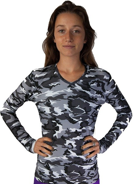 Long Sleeve  - Black Camouflage