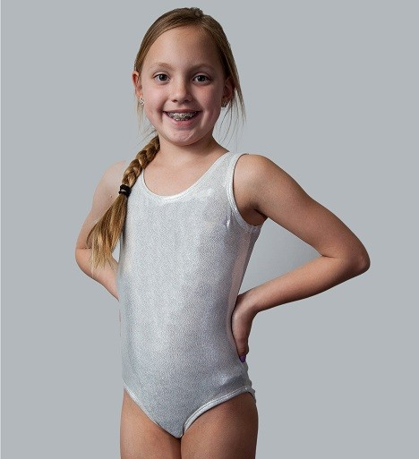 Silver Metallic Tank Leotard