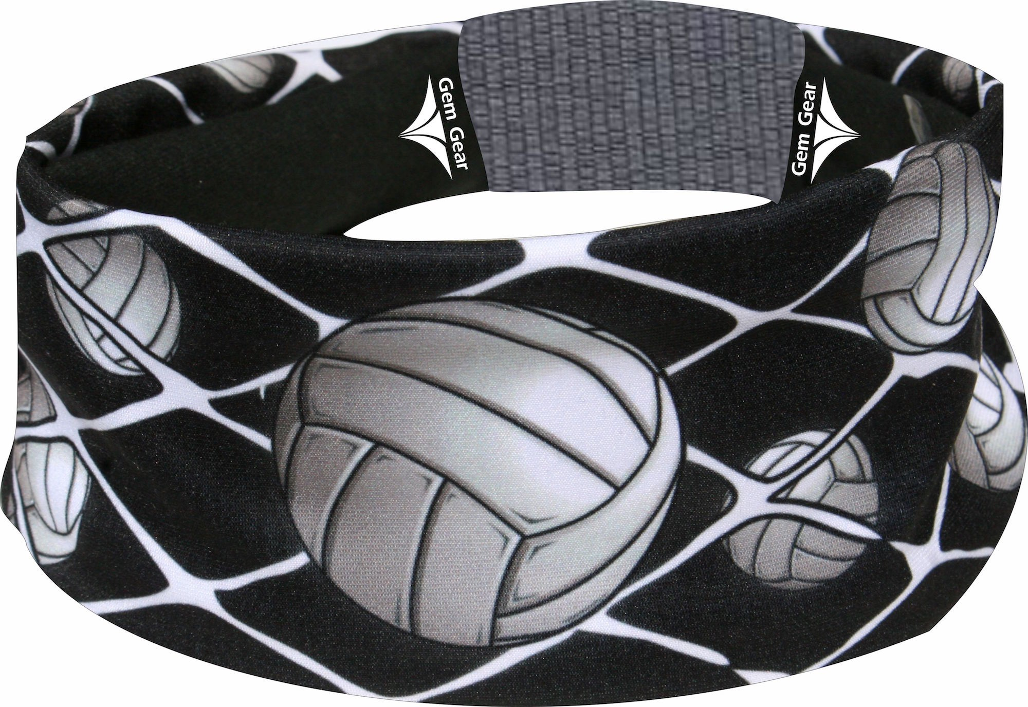 Black Volleyball Head Band