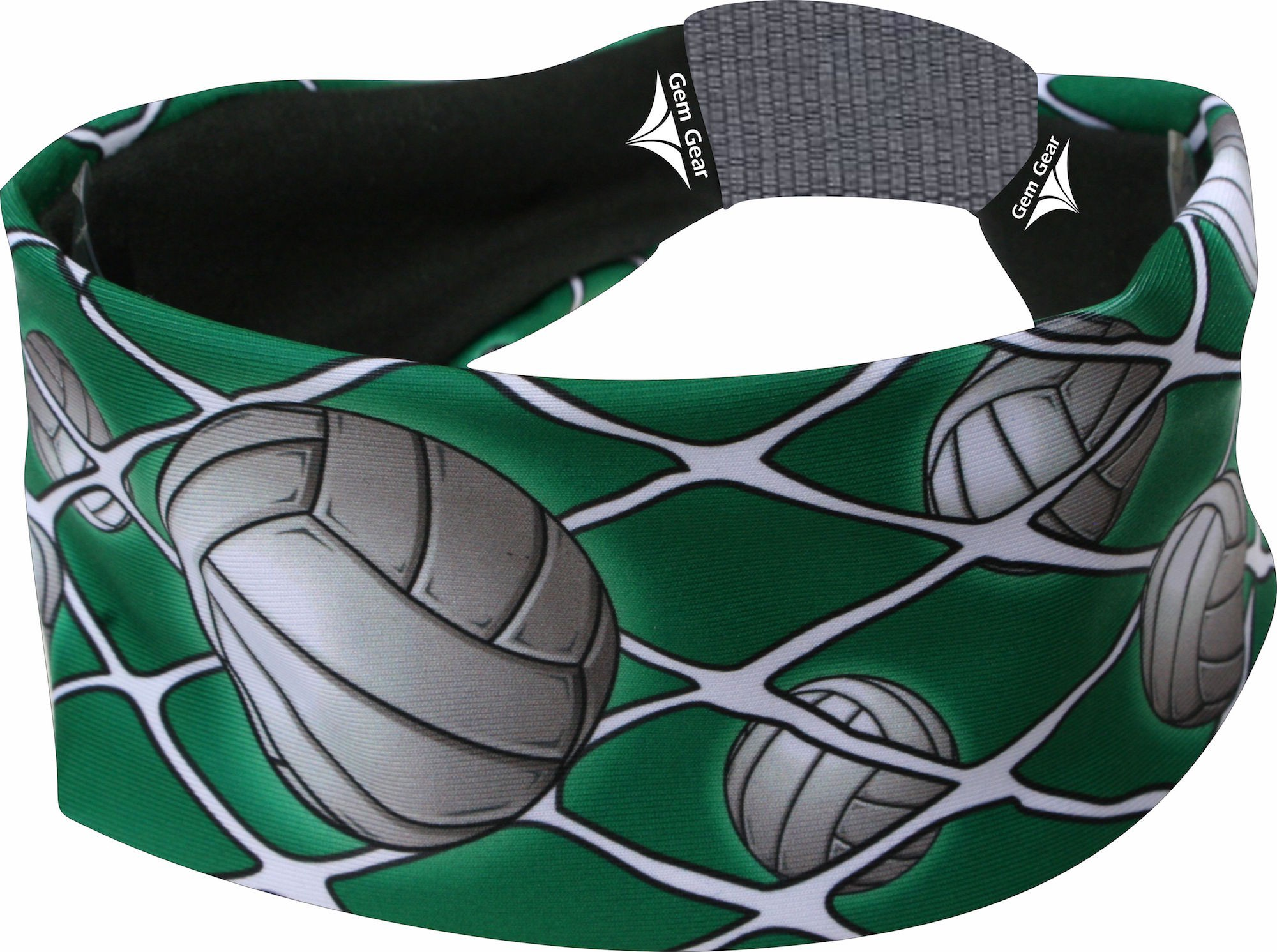 Green Volleyball Head Band