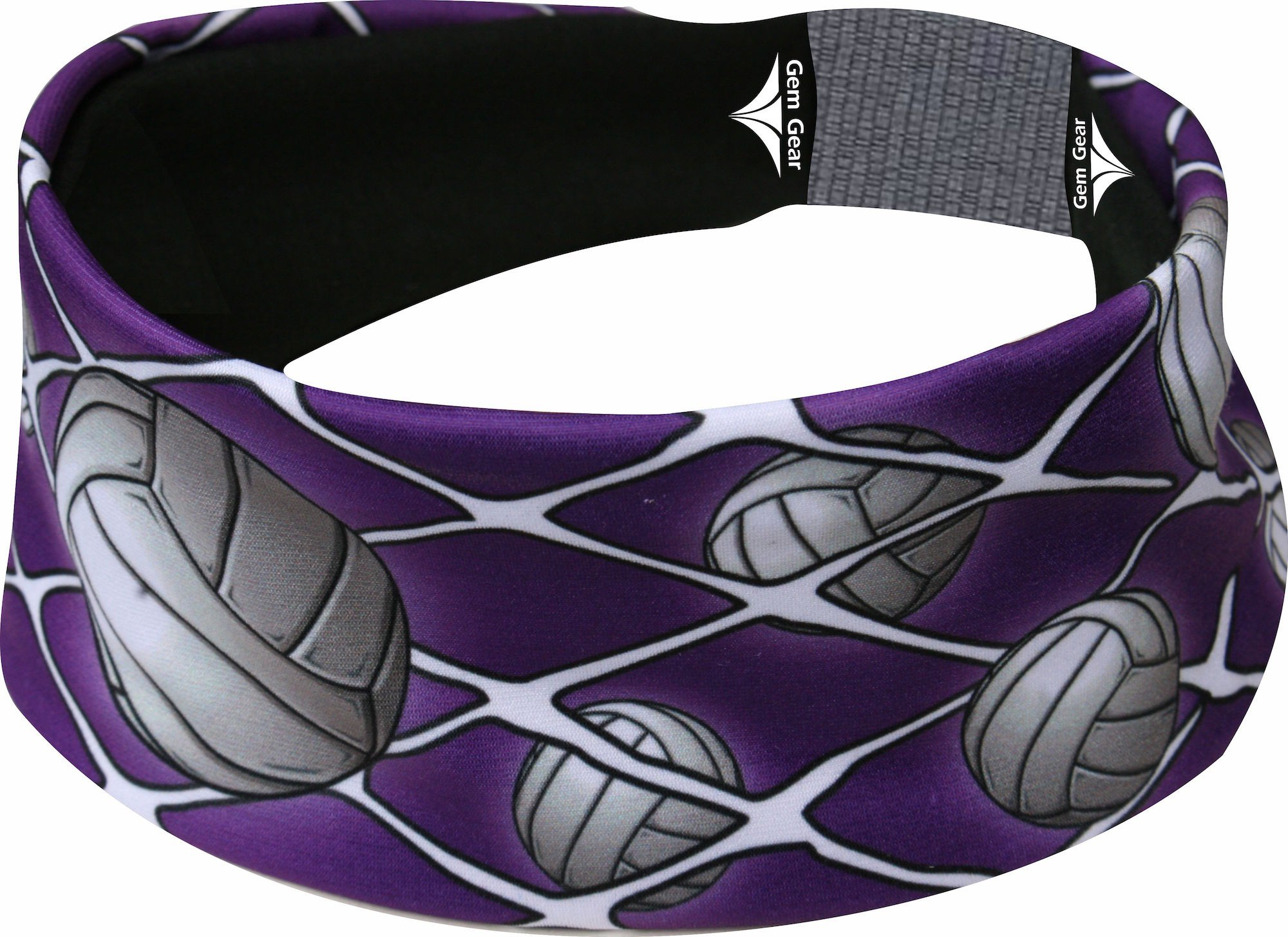 Purple Volleyball Head Band