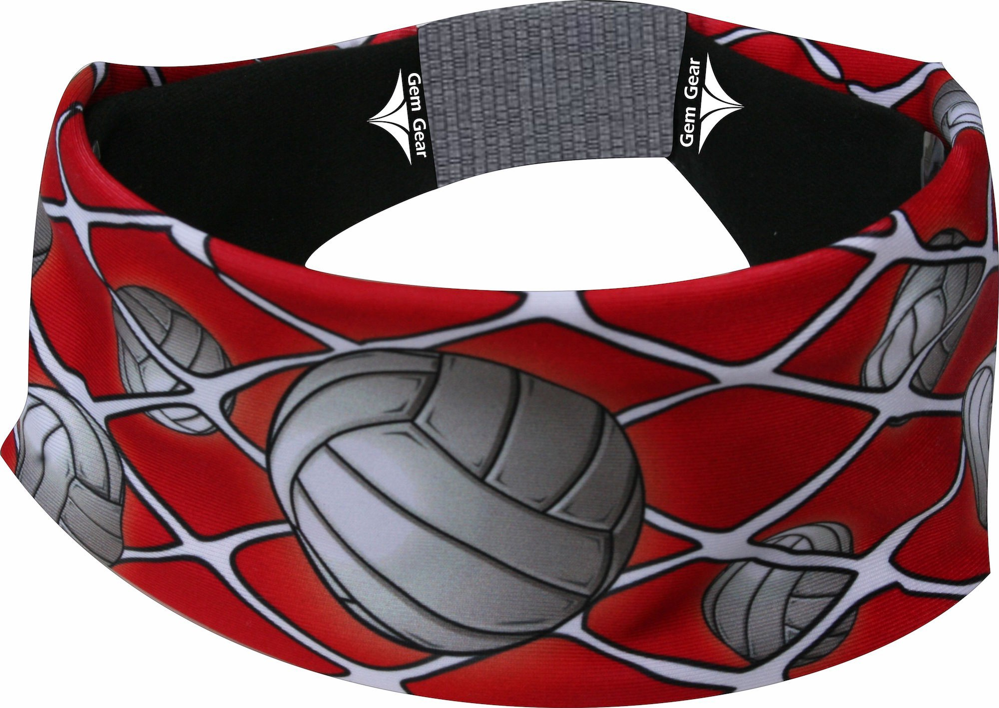 Red Volleyball Head Band
