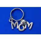 Pewter Mom Keychain