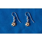 Italian Silver Soccer Earrings