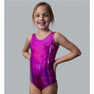 Pink Metallic Tank Leotard