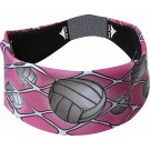 Pink Volleyball Head Band