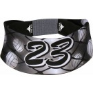 Team Number Black Volleyball Head Band